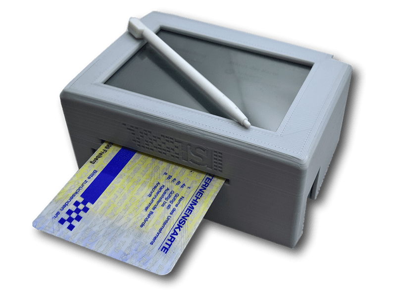 With our small, compact card reader for your office, your company card remains readily available at your location at all times.